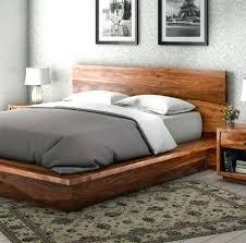 Fancy Wooden Bed Frames Floating Bed With Lights Floating Bed Frame ...