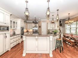 kitchens with white cabinets antique kitchen custom island and red oak floors dark wood