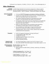 Entry Level Flight Attendant Resume Awesome Top Result Sample Cover