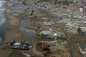 Tsunami satellite images of obliterated japanese towns. Humanitarian Response To The 2004 Indian Ocean Earthquake Wikipedia