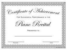 Piano Certificate Template Image Result For Piano Recital Certificate Template Music