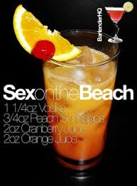 Paradise Sex On The Beach  Drink Recipes  Pinterest  RecipesParty Cocktails On A Budget