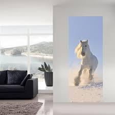 3d Wit Paard Deur Muursticker Behang Zelfklevende Imitatie Kids
