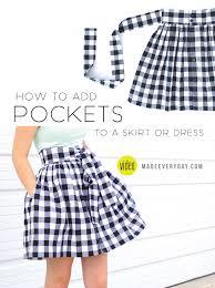 Skirt Patterns With Pockets Impressive Adding Pockets MADE EVERYDAY
