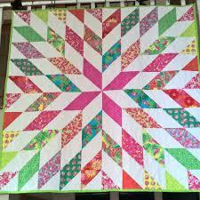 Starburst quilt Bahama Breeze fabric by Keelie Mann | Star quilts ... & Starburst quilt Bahama Breeze fabric by Keelie Mann Adamdwight.com