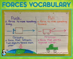 Forces Vocabulary Anchor Chart The Science Penguin
