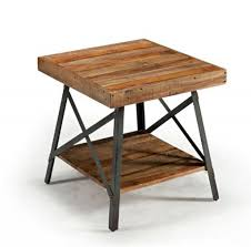 industrial metal and wood furniture. Interior Living Room Furniture Rustic End Tables With Metal Frame . Industrial And Wood