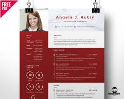 20 Best Resume Templates Free Psd | Psddaddy.com