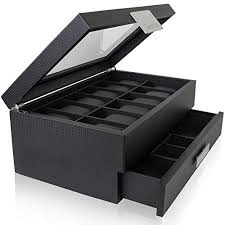 1000 ideas about watch cases for men watch box watch box valet drawer for men 12 slot luxury watch case display organizer carbon fiber design for mens jewelry watches the mens storage boxes holder