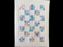 Nine Patch Quilt -- splendid skillfully made Amish Quilts from ... & Aqua, Blue, Purple, Pink and White Nine Patch Crib Quilt Photo 1 ... Adamdwight.com