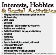 List Of Hobbies And Interests Hobbies In Resumes How To List Hobbies And Interest On A Resume