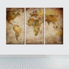 pieces canvas world map wall art – travelifestyle