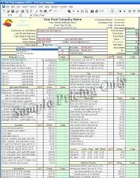 Excel Estimating Spreadsheet Templates Ustam Co