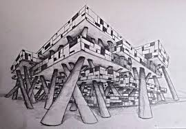 Architecture building drawing Perspective Clangconceptdrawing1jpg Smartdraw Concept Drawing Designing Buildings Wiki