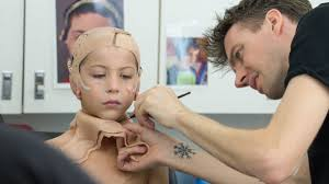 wonder makeup designer tackles a tricky job and makes a boy s mother cry