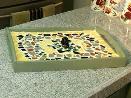 how to make a mosaic serving tray
