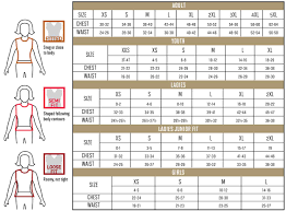 Sizing Charts Sp Custom Online