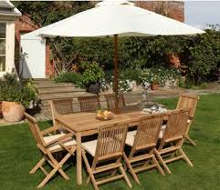 henley rectangle wooden 8 seater garden table chairs sus