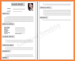 Cv Form For Job Blank Resume Application Save Word Template Part 12