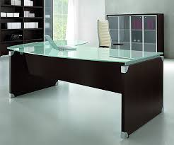 office desk with glass top. ultra bow fronted glass top desk office with