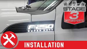 2011 2015 f 250 f 350 super duty recon illuminated side emblems Blue Ford Symbol at Illuminated Emblems Ford Wiring Diagram