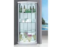 Glass Curio Cabinets With Lights Corner Display Cabinets With Glass Doors Roselawnlutheran