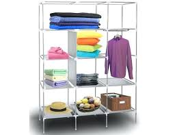 stainless steel closet portable storage organizer wardrobe shelves with sy rust proof stainless steel frame 9 stainless steel closet