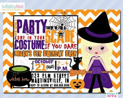 Witch Costume Party Birthday Invitations 071 Lullabyloo