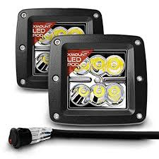 amazon com opt7 cree led pod with wiring harness (2 pcs 18w) fog Wiring LED Lights at Amazon Led Wiring Harness