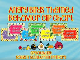 Angry Birds Behavior Chart Angry Birds Themed Behavior Clip Chart