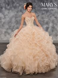 Marys Quinceanera Dresses Style Mq2030 In Champagne