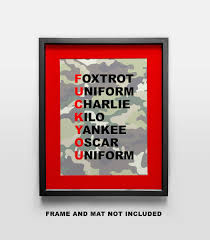 Different variations of the phonetic it was originally developed by the international civil aviation organization and subsequently adopted by nato (north atlantic treaty organisation). Barracks Poster Decor Under 20 Perfect For The Dorm Nato Phonetic Alphabet Funny Art Print 11x14 Unframed Photo Wall Art Gift For Anyone Who Loves Military Humor Bedroom Living Room Artwork Photographs