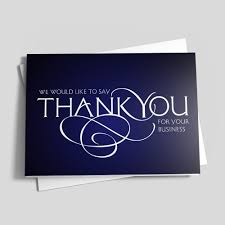 Business Thank You Card Template Business Thank You Scroll Thank You By CardsDirect 19