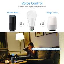 Cox Homelife Compatible Lights Smart Home Led Smart Lamp Dimmable 15w Wifi Bulb App Control Smart Life Lighting Compatible Amazon Alexa Echo And Google Home