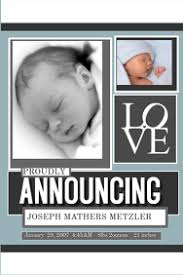 Online Announcement Cards Customize 1 270 Baby Announcement Templates Postermywall