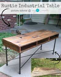 make your own office desk. learn to make your own beautiful rustic industrial table with reclaimed fence wood and metal legs office desk i