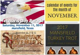 november calendar header calendar of upcoming events november visit mansfield texas