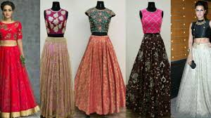 Skirt N Top Designs Latest Trendy Designer Crop Top With Long Skirt 2017 2018 Women Lahenga With Crop Top Trendy India