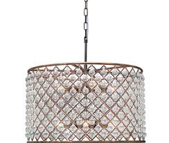cassiel crystal drum chandelier oil rubbed bronze