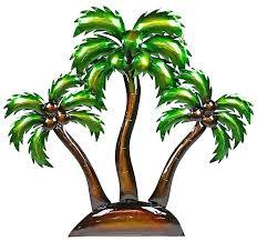 metal palm trees tree yard art wall palm tree