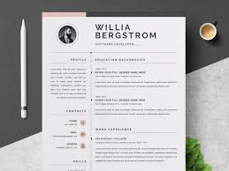 Modern Minimal Resume Template Free Resume Template Cv By Resume Templates On Dribbble