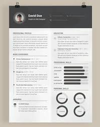 Photoshop Resume Templates 20 Beautiful Free Resume Templates For Designers