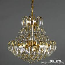 luxury chandeliers k9 crystal pendant lamp gold crystal chandelier lighting e14 hanging crystal light for bedroom hanging lamp shade copper pendant lighting