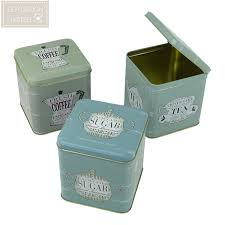 Green Canister Sets Kitchen Premier Housewares Whitby Tea Coffee Sugar Canisters Green Set