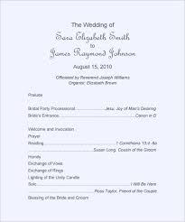 Ceremony Template 26 Wedding Ceremony Program Templates Psd Ai Indesign
