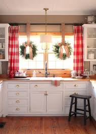 stupefying red and yellow kitchen curtains decor