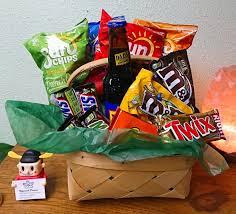 man cave snacks basket