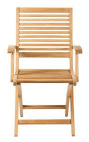 devon clutha folding dining chair teak