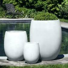 white ceramic planter outdoor planters large garden target cer