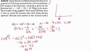 quadratic formula word problems answers capture wonderful equation problem example height ball